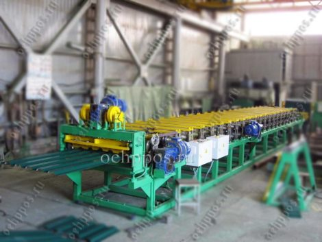 Roofing manufacturing equipment in Russia Roof Panel Line НС35 (GOST 24045-94)
